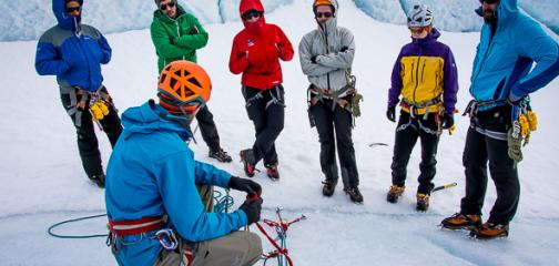 Professional Hard Ice guide training Iceland