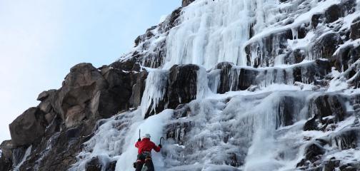 Waterfall Ice Climbing reykjavik iceland