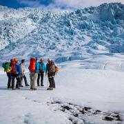 Briefing on Falljökull glacier