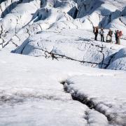 Heli glacier hiking on Sólheimajökull