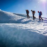 Heli glacier hiking Iceland