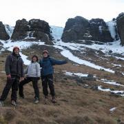 Ice climbing Iceland