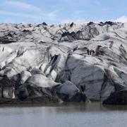 Solheimajokull with glacier lagoon