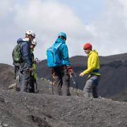 Guided tour on Solheimajokull glacier
