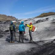 Glacier hiking on Solheimajokull glacier