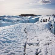 Solheimajokull glacier tour in south Iceland