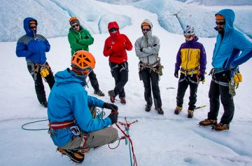 Professional Hard Ice guide training Iceland