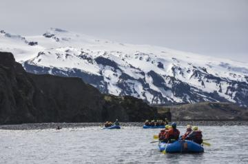 Helicopter River Rafting Iceland