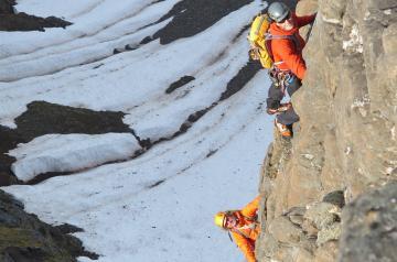 Rock climbing Iceland